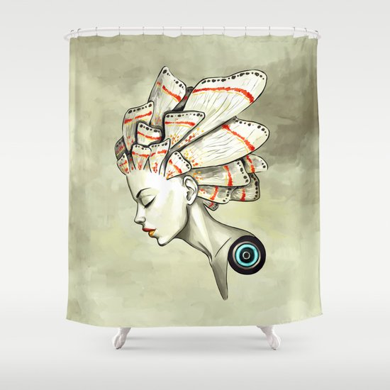 Moth 2 Shower Curtain