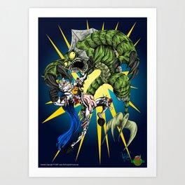 Triumph of the Werefish Art Print
