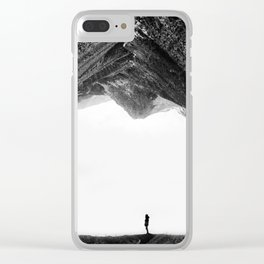 Lost in isolation Clear iPhone Case