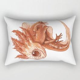 Pink Axolotl Rectangular Pillow