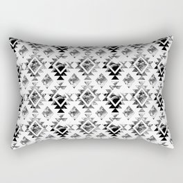 65 MCMLXV Aztec Black and White Watercolor Pattern Rectangular Pillow