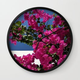 Bougainvillea With Colour Blocking Wall Clock