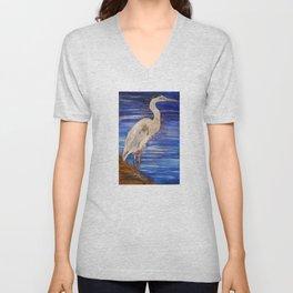 Blue Heron Unisex V-Neck