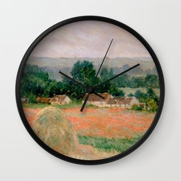 Haystack at Giverny Wall Clock