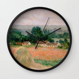 Haystack at Giverny Wall Clock