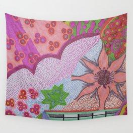 Flower Burst Wall Tapestry