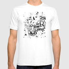 MUMBLE MUMBLE #2 Mens Fitted Tee White SMALL