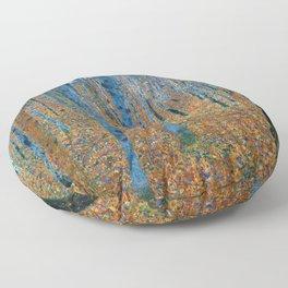 Gustav Klimt - Beech Grove - Buchenhain - Vienna Secession Painting Floor Pillow
