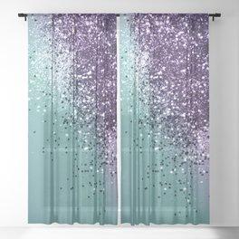 Mermaid Glitter Dream #1 #shiny #decor #art #society6 Sheer Curtain