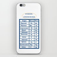 medicine iPhone & iPod Skins featuring DIY Medicine by GroveCanada