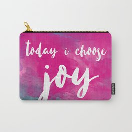 today i choose joy - watercolor pink Carry-All Pouch