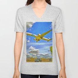 Airliner Pop Art Unisex V-Neck