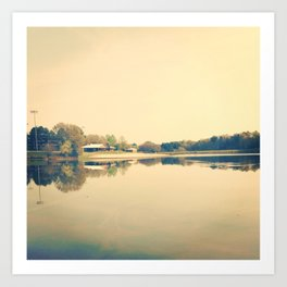 Lake Herrick- Athens, GA Art Print