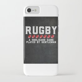Rugby Hooligans Funny Saying iPhone Case