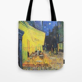 Café Terrace at Night by Vincent van Gogh Tote Bag