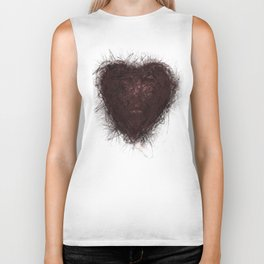 heart of love Biker Tank