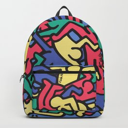 Keith Allen Haring - Hip Hop - Pop Art Culture - Shop Society6 Online 3 - 12/24 A Backpack
