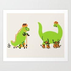 Scootasaurus Art Print