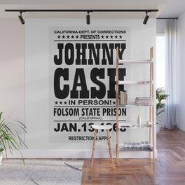 1968 Folsom State Prison Johnny Cash Vintage Tour Poster Wall Mural