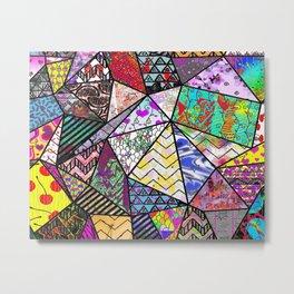 Triangler shaped mix up  Metal Print