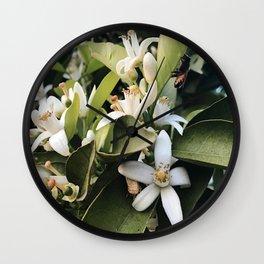 Jasmines with a Bee Wall Clock