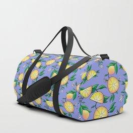 Purple lemons Duffle Bag