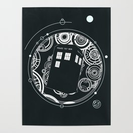 Negative Time and Space - Doctor Who inspired Poster