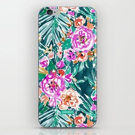 TROPICAL FEELS Begonia Palm Watercolor Pattern iPhone Skin