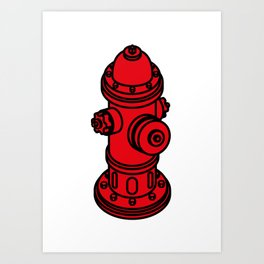 Red  fire hydrant Art Print