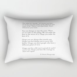 fitzgerald for what it's worth Rectangular Pillow