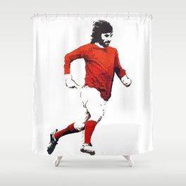 """George Best """"Belfast Boy"""" Shower Curtain"""