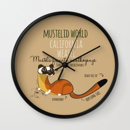 Mustelid Worl: California Weasel (c) 2017 Wall Clock