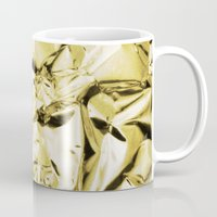 gold foil Mugs featuring Gold foil by lamottedesign