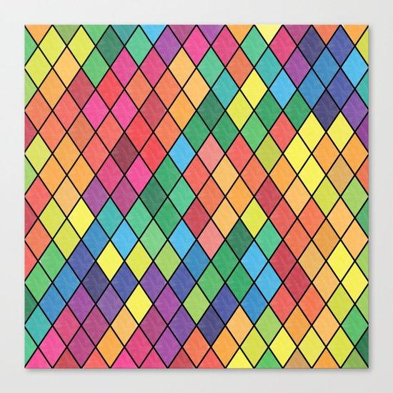 Lovely geometric Pattern X Canvas Print