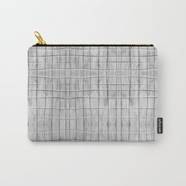 Soft Gray Plaid Carry-All Pouch