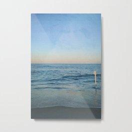 Calm Waves at the Beach Metal Print