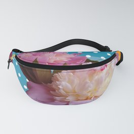 Peony Flowers & Dots Fanny Pack