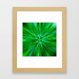 Green Star Flower Glow Framed Art Print