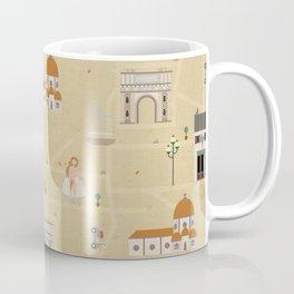 Florence Map Print Illustration Coffee Mug