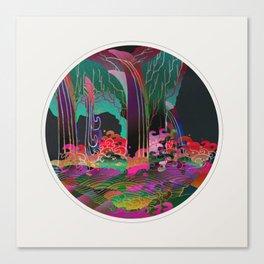 Reincarnation - Neon Waterfalls Canvas Print