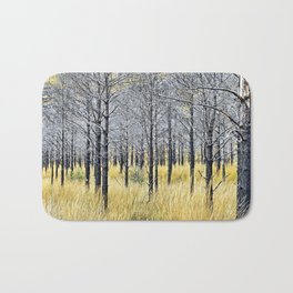 Walking with trees Bath Mat