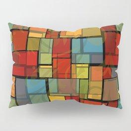 Stained Glass Geometric Pattern Pillow Sham