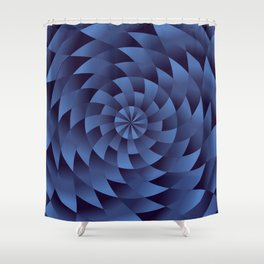 Innocence, Struggles and Trouble Spiral Geometric Pattern Shower Curtain