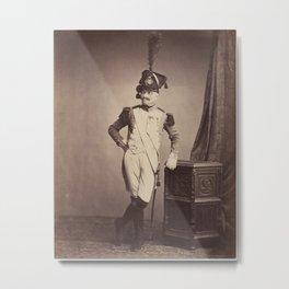 Vintage Photographic Print - M. Vitry of the Departmental Guard (1858) Metal Print