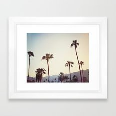 Palm Trees in the Desert Framed Art Print