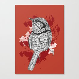 One Little Bird (Inverted Red Version) Canvas Print
