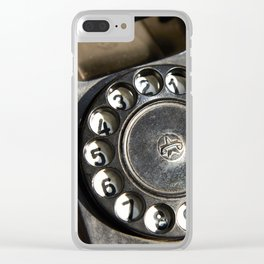 Retro rotary dial telephone Clear iPhone Case