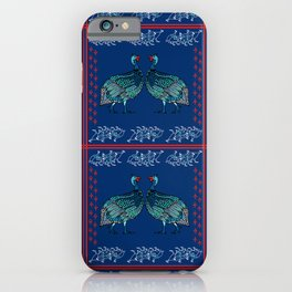 Guinea Fowl Geometric iPhone Case