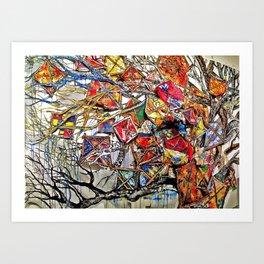 The Kite Crusade Art Print
