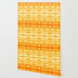 Satin Shibori Yellow Wallpaper